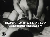 Vintage bareback interracial movie from 1970's.