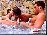 Gay Porn from mountequinox - Jacuzzi-Three-way-Pt-2