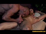 Hairy amateur, Clay Towers, gets the most erotic massage of his life from sexy muscle hunk, Chad Brock.