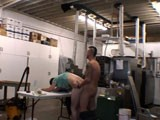The owner of this press shop was takine video of his place of business for the insurance company. As he's video taping he walks into a man to man ass pounding frenzy between the manager and one of the employess. Lol, their reactions are fucking priceless!...<br />