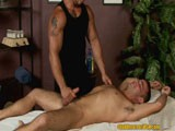 Aiden enjoys the nipple play and prostate massage that Matthew gives him before jerking him off to a fantastic cum shot!