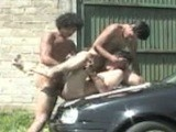 gay porn Three Horny Latinos Fu || Three young hung and horny Latinos fucking after washing their car, shoving their cocks in a horny eager cock suckers mouth then taking turns fucking his tight ass on top of the car, see them blow their sticky white loads and more only at LatinoSmooth
