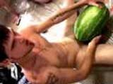 gay porn Str8 Watermelon Gangbang || Off da hook 3-way thug watermelon gangbang wit homeboys Billy, Blinx & Nolan as they smash, crush & fuck the hell outa a couple fat ass melons! This video is real, raw, unrehearsed & straight up nasty! Watch as they hard dicks slip in & outa da red flesh fruit meat until they shoot big loads of cum! Watch da watermelon fight after & then you gonna love da extra footage of behind da scenes as these guys clean up! Dis da perfect way for straight naked guys to kiss Summer good-bye! See what real straight skaters, street punks & thugs do behind closed doors & out in public now! This site kicks ass! Go to StraightNakedThugs now & get your world rocked! Click Banner Now for More!