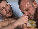 Watch pornstar Clay Towers give pornstar Chad Brock an incredible fucking and a great facial!