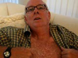 This dirty daddy loves to talk to the camera! You get a close up interview with Jim in this video. You'll have to watch to get all the details, but Jim tells me what he likes and how he likes it. He spreads his ass cheeks wide apart to show me his tight daddy hole and he groans over and over as he rubs out a milky thick load of cum and then eats it. Jim is ready, with a willing ass, for as many cocks that will line up and give it to him. He's open to everything and anything.