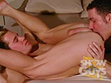 Mitch Ryder and his hairy chest and huge cock take full possession of the beautiful bubble butt belonging to adorable blond Trent Atkins!