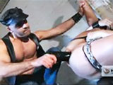 You'll wonder who's the prey and who's the predator when Adam Russo finds Club Inferno Exclusive Evan Matthews blindfolded and restrained in an abandoned warehouse. Matthews willingly takes every toy Russo shoves up his ass, eventually demanding more. Matthews astonishes Russo by opening his hole to display a brilliant rosebud before sucking in Russo's entire arm past the elbow!