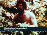 gay porn Mysterious Lumberjack || Taking a break from chopping wood, a hunky and hairy lumberjack undresses to go to a stream, where he spies on a second, relatively slender and smooth guy who is bathing while still wearing his leather cap. See more at Vintage Bareback.