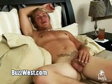 gay porn Jason Knight || You like guys with British accents? Jason Knight has such a sexy voice, and he loves telling erotic stories of his sex adventures! He's done some stripping a few of the local clubs as well as many in England. He loves to be naked and is very much an exhibitionist! I don't usually go for the shaved pubes, but it seems to fit well with the tattoo that leads down to his beautifully uncut fat cock! I'm just a sucker for gorgeous uncut dick, and I'm sure you will agree, Jason has one of the nicest! Wait till you see him nut! Jason gets up on his knees and strokes a HUGE load all over the sheets. Can you imagine laying under him and that warm load splashing across your chest? Don't you just love a good pearl necklace! HOT!