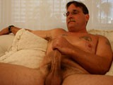 Bart is instantly comfortable taking his clothes off and showing me his thick hard cock. He makes sure that I understand that he's not gay, but isn't opposed to playing around with another guy. In this interview audition Bart gives a very hot show. He has a massive cock that I can't wait to see in full action. He strokes out a big load for me and leaves me wondering when I can see more.