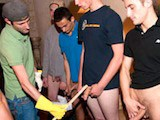 Sometimes its fun to just fuck with people and see what their limit is. and this week these crazy frat boys did just that. they treated their pledges like ass. lol making them measure their cocks and if they were less than 6 then they were chicks. when one of the pledges got cocky they had him give lil jacob some head. its funny to see how much these wanna be frat boys want to be accepted by a frat.