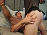 gay porn Hung Straightboy Fills || Straight and horny America is back once again, ready to plow a nice, tight manhole on my couch today. Luke, a ripped, tan and willing power bottom, was my choice for America's uncut dick to penetrate. I have them take a questionnaire, asking whether they like rimming, spitting, fucking, getting facials, etc. And their answers were very, very interesting. After their chat time, Luke is eager to get fucked and immediately starts taking off America's clothes to see that huge uncircumcised cock. Luke sucks on his throbbing rod and then works his way down on America's hairy, virgin hole. After rimming that tasty hole, Luke gets on the couch and America throws up his legs, slamming his hard man stick into Luke. Railing Luke's ass raw, America pulls out, eager to blow his load. The straight stud then erupts loads of white cum all over Luke's face and mouth. The hot bottom can't hold back his nut any longer and jizzes all over America's awaiting ass. And apparently cum eating was on Luke's likes, because he picks up both of their cum, swallowing it whole. Good Boy!