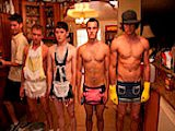 Okay, so this week we got a rather interesting submission. The pledges in this frat had to clean the entire frat house after a party...wearing french maid outfits. These frat brothers didn't give a shit and went all out with their pledges. As the poor dudes cleaned the house, the brothers would walk behind them and make more of a mess. That is until the alpha brothers came back from golfing and decided they wanted to have their balls cleaned...and I don't mean their golf balls. These poor pledges had to lick their brothers balls clean. Talk about a spit shine with a very jizzy ending!