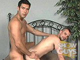 Beautiful, hot Hugo Alexander and his big uncut cock fuck the stuffing out of sexy porn star Kain Warn and his Prince Albert!