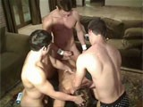 Watch Fratpad Live cams at Dmitry gets played with and massaged by 3 studs.