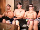 Four of our hottest guys get off together with 4 cum shots...