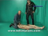 Two hard master from bdsmjeans play with nipples and cock