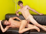 While hanging at the Frat House, incredibly hot and horny Keegan and Daniel can't keep their hands off each other for long. You can almost smell the hormones as they make-out and rub one another on the couch...