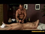 Watch Chad Brock's magical hands as he jerks off Brenden Cage in this hot clip from an over 30 minute erotic massage!