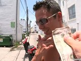 Joey and Travis are on South Beach looking for some ass when they come across Tyler. Everyone is ridding scooters so it's perfect to ride together! Travis invites Tyler to ride around exploring and Tyler accepts. They all end up in an alley and Joey decides it's a perfect moment to ask if Tyler would like to suck Travis cock. He adds 50 bucks in the mix and Tyler agrees to suck Travis's cock. After they get caught in the alley a few times they decide to move the fun to another location. You can imagine what really happens once they both feel a little more comfortable in their surroundings. Would you believe they fucked on a bike path?! Right there on the grass!!' It was a crazy day.
