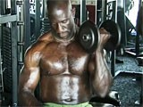 A horny black bodybuilder.