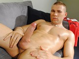 Handsome blond stud Jordan Fox flexes his oiled up muscles and shows off his amazing body in this hot confident solo - he takes out his super fat uncut 8 inch dick, rubs oil into it, works his foreskin back and forth nice and slow for us, before shooting a thick spunk load!<br />