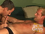 Two hot guys with two of our biggest and hardest cocks, Scott Tanner and Matthew James get it on in this scorching scene!