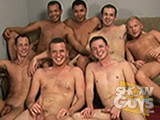 Seven of our hottest guys ring in the New Year with an orgy of sucking and fucking!