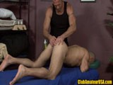 Al Carter is a sexy Italian man enjoying the magical rub down from HOT muscle hunk Chad Brock!
