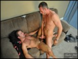 "gay porn Devin And Sean Stavos || Devin is putting the finishing touches on his ""mancave"". Sean, the cable guy, comes by to install the last set of cables but notices the line was getting any action. ""Well that makes two of us"" says Devin. Surprised, Sean offers to help out"