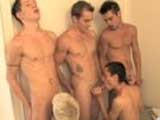 Gay Porn from jizzaddiction - 8-Cocks-2-Mouths