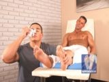 Foot licker bodybuilders