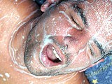 Dirty male on male anal hole pounding with cock sucking and nasty cum farting with huge facial cumshots. Hardcore gay bareback fuck then anal sperm dripping into his face.