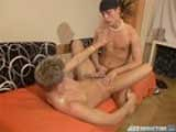 gay porn Hot Twink Fuck || What began as a romantic back massage turned into a full body naked rubbing, sucking and fucking, hard core, cum soaked afternoon for cute Euro boy skaters Michael and Stacey. Stacey began by rubbing lotion on Michael's shirtless back, then kissing and touching his smooth body. Before long, both of these uber hotties were naked with their fully erect thick, uncut cocks pulsating for attention. After mutual masturbation and a deep throat 69 session, Stacey slowly and gently slid his thick dick in Michael's tight round, smooth young ass. Michael moaned as Stacey's thrusts increase deeper and faster in his almost virginal asshole until his cock erupts and sprayed cum on his belly and Stacey's face. Stacey completed his satisfaction by jerking himself off and shooting a cum load so powerful that he nearly hit his own face! This video superbly captures the romance and erotic youthful passion between these 2 super sexy Euro twinks and will leave you completely satisfied! See all 7 clips in high erotic quality and lots more hard core, cum fetish gay porn now at JizzAddiction - free samples & more! Click banner now for more!