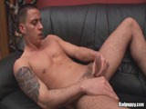 Kevin is a hot Euro stud with great tattoos and a great big cock. Watch him rub one out!
