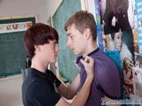 Two beautiful twinks Jeremy Sommers and Robbie Hart are in the classroom and they're not concentrating on learning. Instead they're preoccupied with sucking cock and fucking and the oral action you witness is breathtaking. That leads to a good missionary fuck on the desk with an asshole absolutely stuffed with dick meat. Of course tasty doggy style follows.