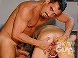Pornstar hunk Enrico Vega and his long, thick, hard cock make little horndog Tim cry for mercy!