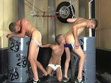 This hot scene starts out with super slim twink Phillip Ashton munching on a cute blond twink's ass. He switches to his friend and licks his ass as well for a good five minutes. This steamy trio then exchange blowjobs before the fucking commences. Phillip and Tyler pound Reed's ass one after the other for a while, and then all three let out monster cumshots.