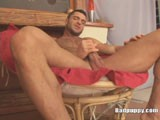 Sergio Soldi is a hairy Euro stud with a 6-pack to die for and a beautiful uncut cock.