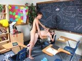 This scene starts with some serious twink stress as Casey Jones panics about an upcoming chemistry test. But Brice Carson is there to help! He doesn't know anything about textbook chemistry, but he certainly knows a thing or two about twink chemistry! He does some instructing to Casey's cute little ass before he explodes with cum all over the twink's stomach.