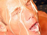 Male barebacker fuck this gay tight asshole and unload all his cream in ass and on his face. Nasty gay bareback with messy and huge cumshots.
