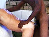 Hardcore interracial gay sex.
