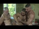When sexy muscle bottom Mike Dreyden spies hot daddies Nick Moretti and Paul Barbaro talking on the street he just can't help but let his imagination run away with him. He's soon imaging Paul's fat cock in his mouth and feeling Nick's long hard dick sliding up his hole. But he doesn't have to imagine for long because the two daddies have spotted him too and they believe reality is much better than fantasy...