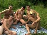 Check out this hot outdoor orgy with 5 of your favorites. There out this scene with Tyler, Dustin, Mike, JC and CJ.