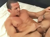 Trevor Knight orders his scene partners around; he's an aggressive top with plenty of cock to back it up. When he sees Cavin Knight's huge bubble-butt he knows he's going to fuck him. Trevor pushes Cavin down on the bed and immediately feeds him his 9-incher then flips him over and preps his hole for a hard pounding. He shoves his cock in Cavin's ass and fucks him mercilessly until he pulls out and blows a thick juicy load.