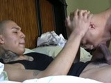 See this two hot latino guys with big uncut cocks suck cock and then fuck hard. Watch as they both bust a huge load on themselves. Visit bilatinmen,com and nakedpapis,com for hot latino guys.
