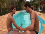 gay porn Brazil Bareback Scene 2 || At the pool we bring you Benji and Jose. Both of these hotties are versatile and enjoy barebacking. The action surely tells the story of how well they enjoy each others bodies and cocks in this video as they both flip flop with each other, show their passion for cum, and really show off how much they love sex.