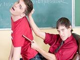 gay porn Is It A Lesson || The lesson plan is set but will soon be ignored in a scene with andy kay and maddox johnson. The young teacher and teen have always gotten along marvelously and are ready to take their relationship to the next level. They've both had homosexual tendencies but are exploring them for the first time here. It's a pretty brazen move to do this on a desk in a classroom, but who cares? It's all about the heat of the moment and the heat is definitely pumpin' here. Dicks get sucked, asses get fucked, and so much more happens. Don't blink or you may miss out on all the delicious gay action that transpires.