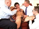 Gay Porn from CMNM - Daniel-Milked-By-Clothed-Men