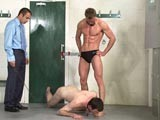 gay porn Swim Coach Tormentor || At brutal tops businessman master peter comes to his gym for a workout to find a naked sub crawling on the locker room floor. When the god-like swim coach arrives he has a pervy idea how to use this filthy cretin. Any bottom would be thrilled at the chance to worship the perfect muscular body and speedos of master terrance (well known star neil stevens). Master terrance gives him a mouthful of piss and makes him lick up his urine from the floor. Master peter makes the sub lick the towering hunk's body clean, including licking out his ass and sucking his cock. His mouth his held wide open to receive the load of spunk master terrance shoots straight down his throat. Watch the most ground-breaking new bdsm videos at brutaltops!